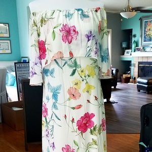 Forever 21 Pretty by Rory Floral Hi Low Maxi Dress